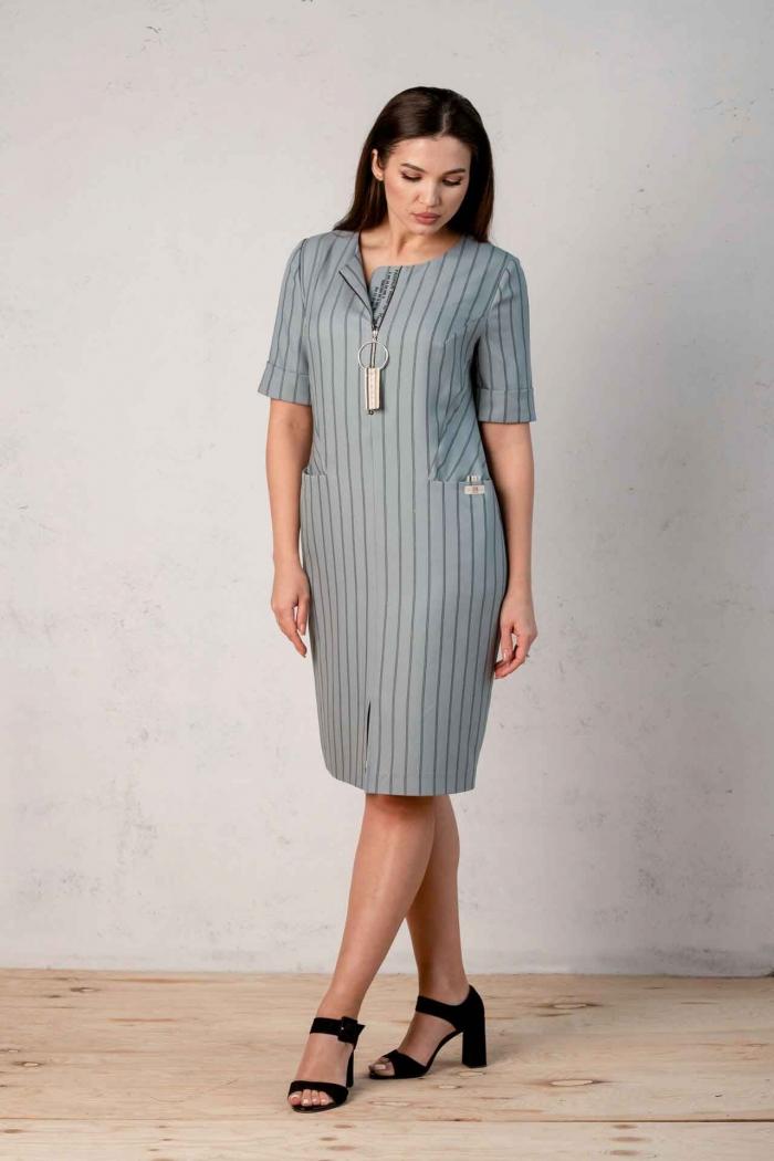 Платье Angelina голубое 521-6